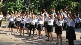 1 вересня в Технологічному Ліцеї ОРТ ім. Б.З. Герцля, Кишинев, Молдова