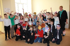 Purim celebration at ORT Educational Complex, Kiev